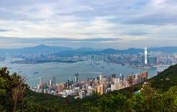 Widok Wiktoria schronienie, Hong Kong obrazy stock