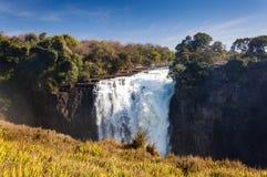 Widok Wiktoria Spada w Zimbabwe, Afryka Fotografia Royalty Free