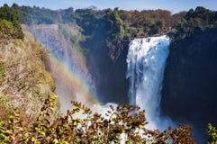 Widok Wiktoria Spada w Zimbabwe, Afryka Zdjęcia Royalty Free
