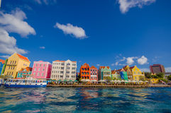 Widok Willemstad Curacao, holandie Antilles obrazy royalty free