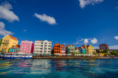 Widok Willemstad Curacao, holandie Antilles obrazy stock