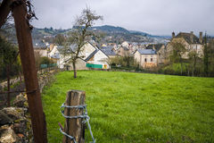 Widok wioska Banassac, Francja Fotografia Stock