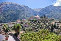 Widok wioska Deia, Mallorca, Hiszpania obrazy royalty free