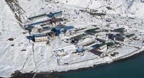 Widok wioska Gokyo Zdjęcie Royalty Free