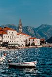 Widok wioska Perast Montenegro zdjęcie royalty free