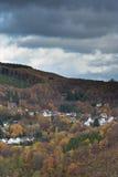 Widok wioska w Eifel w niemiec troszkę Obraz Stock