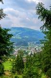 Widok wioska w g?rach obraz royalty free