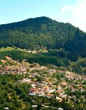 Widok wioska zwany Metsovo lokalizować w Epirus Grecja fotografia royalty free