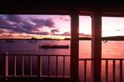 Widok Woda w Maine Zdjęcia Stock