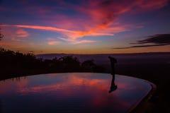 Widok wschód słońca na Jeziornym Manyara Zdjęcie Royalty Free