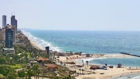 Widok wybrzeże miejscowość wypoczynkowa Obrazy Royalty Free