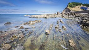 Widok wybrzeże Baskijski kraj Zdjęcia Royalty Free