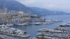 Widok wybrzeże Monaco Obrazy Royalty Free