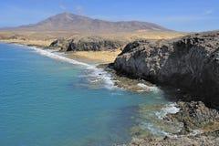Playa De Papagayo, Lanzarote wyspa, wyspy kanaryjska, Hiszpania Fotografia Stock