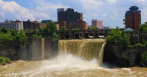 Widok wysokość Spada w mieście Rochester Obraz Royalty Free