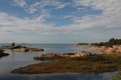 Widok wyspy w Gruzinu Zatoce Obraz Stock