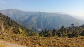 Widok wzgórze daleki horyzont Obrazy Royalty Free