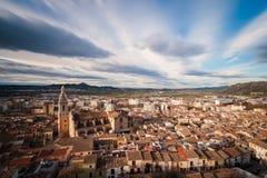 Widok Xàtiva zdjęcie royalty free