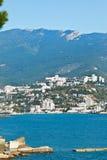 Widok Yalta miasto na Czarnym morzu Obrazy Stock