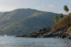 Widok Yanui plaża Kaeo Noi na Phuket wyspie i Koh, Andaman morze w Południowym Tajlandia Zdjęcie Royalty Free