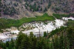 Widok Yellowstone rzeka Obraz Royalty Free