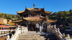 Widok Yuantong Buddyjska ?wi?tynia w Kunming, Yunnan, Chiny zdjęcia stock
