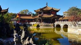 Widok Yuantong Buddyjska ?wi?tynia w Kunming, Yunnan, Chiny obraz royalty free