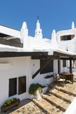 Widok z dzwonkowy wierza wioska rybacka, Menorca, Hiszpania Obraz Royalty Free