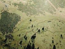 Widok z lotu ptaka łąka w Pyrenean, Francja zdjęcia royalty free