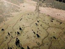 Widok z lotu ptaka łąka w Pyrenean, Francja fotografia stock