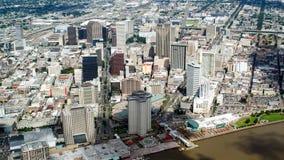 Widok z lotu ptaka śródmieście, Nowy Orlean, Luizjana zdjęcia royalty free