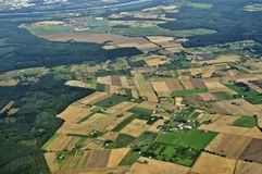 Widok z lotu ptaka - Środkowy Polska zdjęcie stock