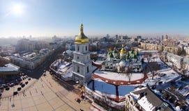 Widok z lotu ptaka świętego Sophia katedra w Kijów zdjęcia stock