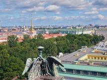 Widok z lotu ptaka święty Petersburg od świętego Isaacs katedry, Rosja Obrazy Stock
