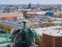 Widok z lotu ptaka święty Petersburg od świętego Isaacs katedry, Rosja Zdjęcia Royalty Free