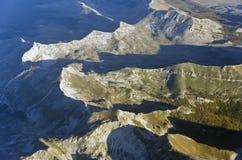 widok z lotu ptaka Obrazy Royalty Free