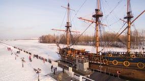 Widok z lotu ptaka admiralici Kwadratowa i Rozpoczynająca Predestinatsia bóg ` s predestynacja pierwszy Rosyjski statek budował w Obrazy Royalty Free