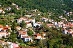 Widok z lotu ptaka Agerola wioska Fotografia Stock