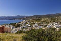 Widok z lotu ptaka Agios Nikolaos Zdjęcie Royalty Free
