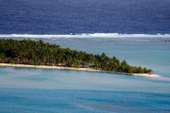 Widok z lotu ptaka Aitutaki laguny Kucbarskie wyspy Zdjęcie Royalty Free