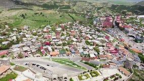 widok z lotu ptaka Akhaltsikhe jest małym miastem w Gruzja zbiory
