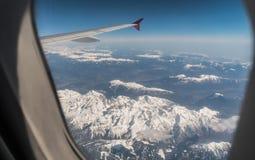Widok z lotu ptaka Alps fotografia royalty free