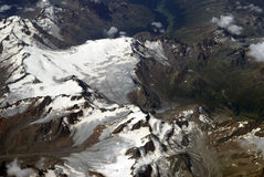 Widok z lotu ptaka Alps obrazy stock