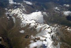 Widok z lotu ptaka Alps Obraz Stock