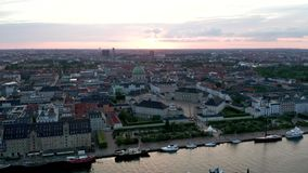 Widok z lotu ptaka Amalienborg kasztel w Dani zdjęcie wideo