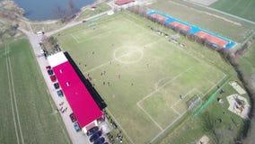 Widok z lotu ptaka amatorski futbol zdjęcie wideo