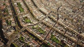 Widok z lotu ptaka Amsterdam zbiory wideo