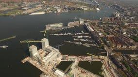 Widok Z Lotu Ptaka Amsterdam z Poststeiger zdjęcie wideo