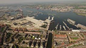 Widok Z Lotu Ptaka Amsterdam z Poststeiger zbiory wideo