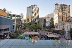 Widok z lotu ptaka Aotea kwadrat w Auckland Nowa Zelandia Obraz Royalty Free